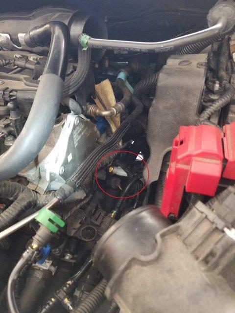 P0128 Code - Coolant Temperature Sensor Location?   Fiesta
