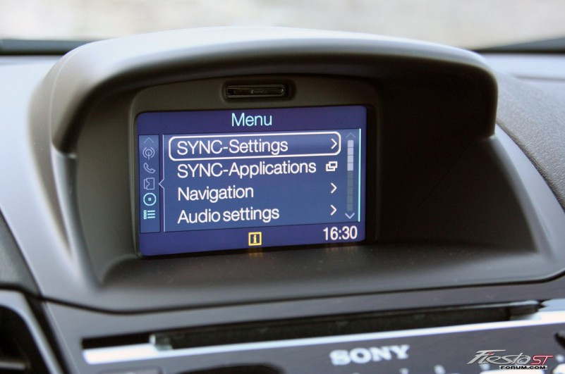 2014 fiesta st gets an enhanced version of the sync voice. Black Bedroom Furniture Sets. Home Design Ideas