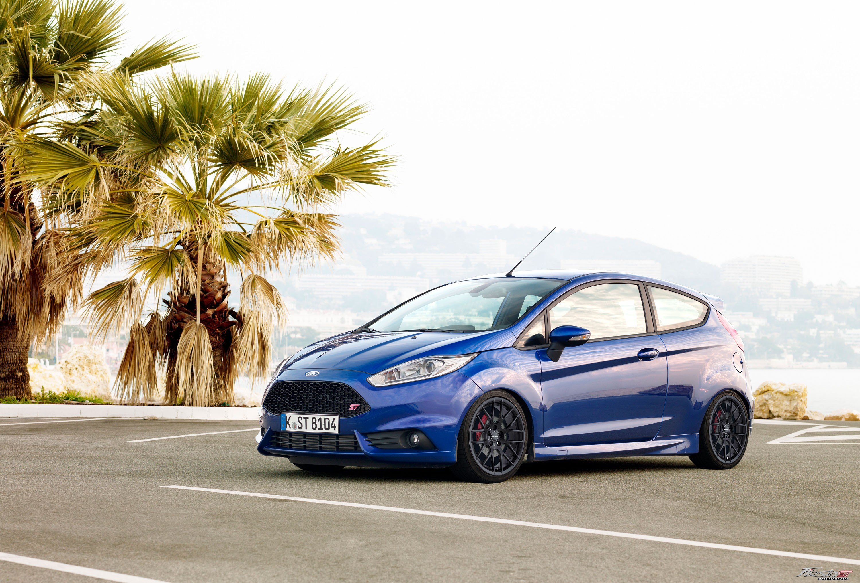 Fiesta ST on rendered wheels