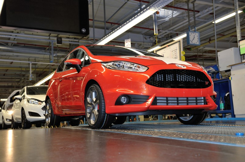 ford begins production of new fiesta st fastest ever production fiesta sprints 0 100 km h in. Black Bedroom Furniture Sets. Home Design Ideas